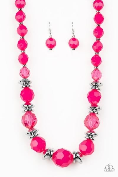 Dine And Dash - Pink Necklace