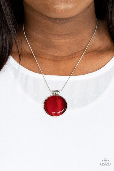 Look Into My Aura - Red Necklace