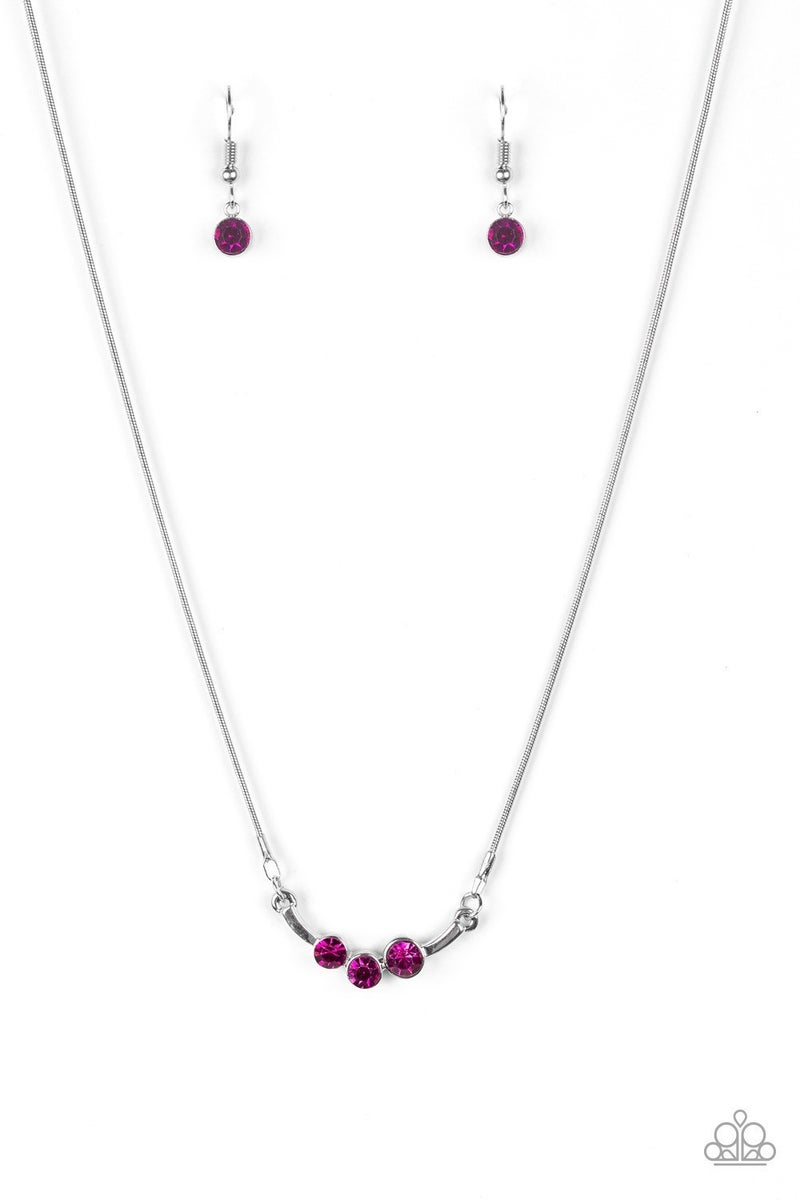 Sparkling Stargazer - Pink Necklace