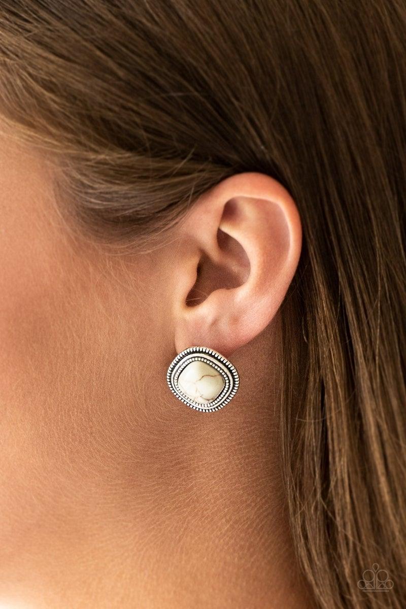 FRONTIER-Runner - White Earrings