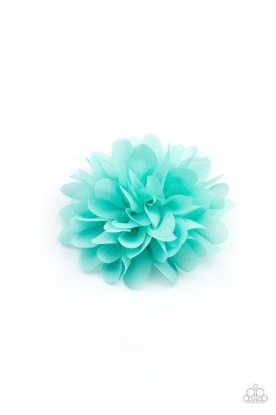 Blossom Blowout - Blue Hair Clip