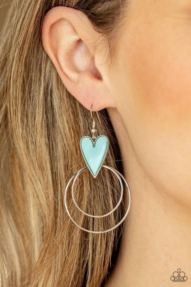 Happily Ever Hearts - Blue Earrings