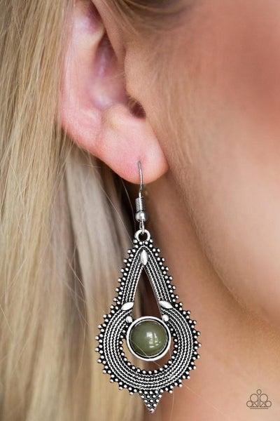 Zoomin Zumba - Green Earrings