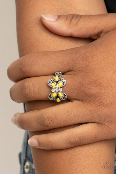 Boho Butterfly - Yellow Ring