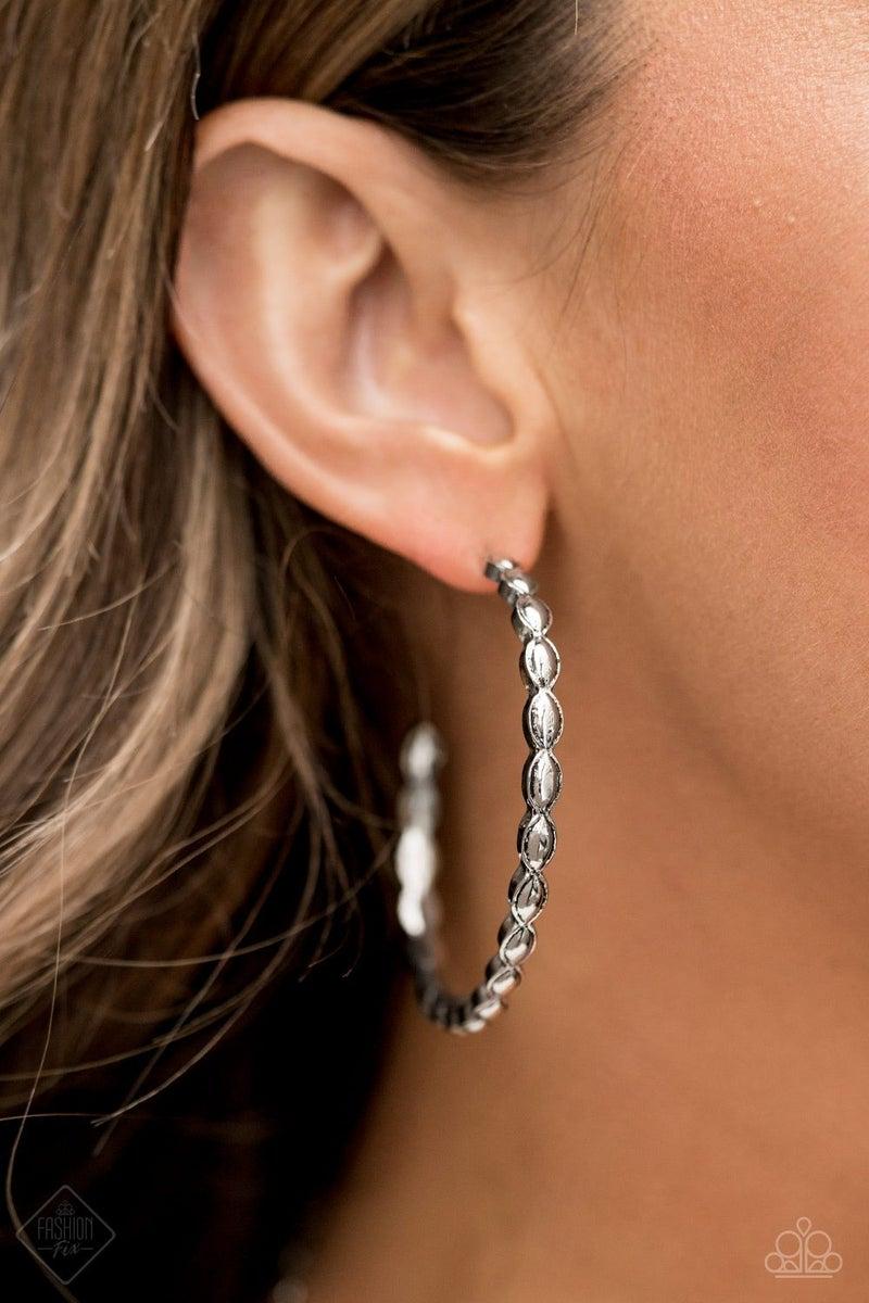 Hoop Hype - Silver Hoop Earrings - May 2021 Fashion Fix