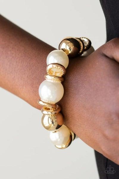 Rockin' Rockefeller - Gold Stretchy Bracelet