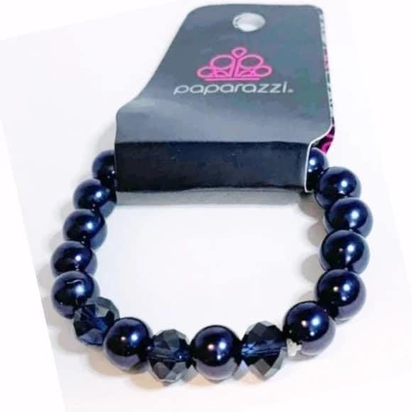 Really Resplendent - Blue Stretchy Bracelet