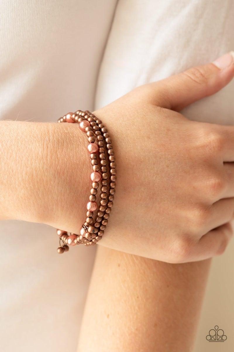 GRANDIOSE Slam - Copper Stretchy Bracelet