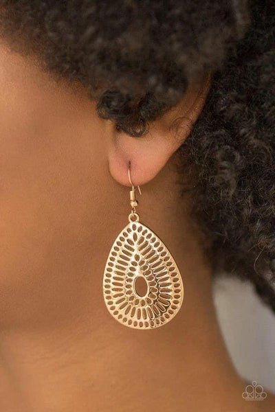 You Look GRATE! - Gold Earrings