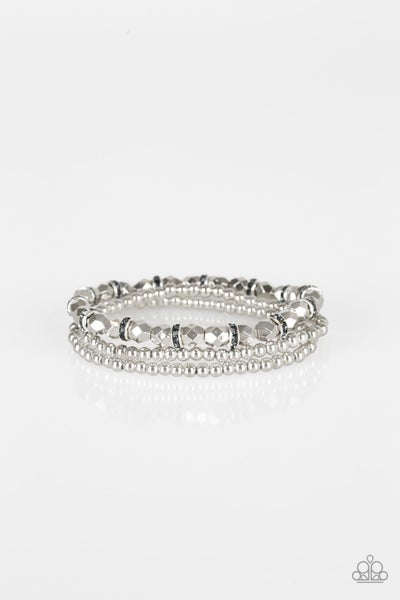 Let There BEAM Light - Silver Stretchy Bracelet