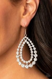 Glacial Glaze - White Earrings