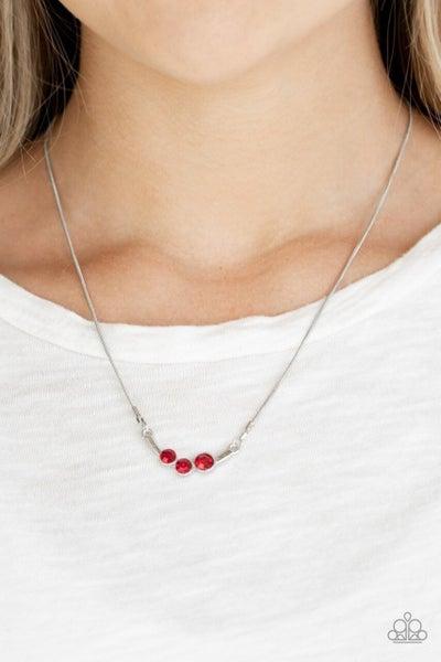 Sparkling Stargazer - Red Necklace