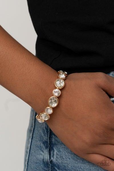 Still GLOWING Strong - Gold Stretchy Bracelet