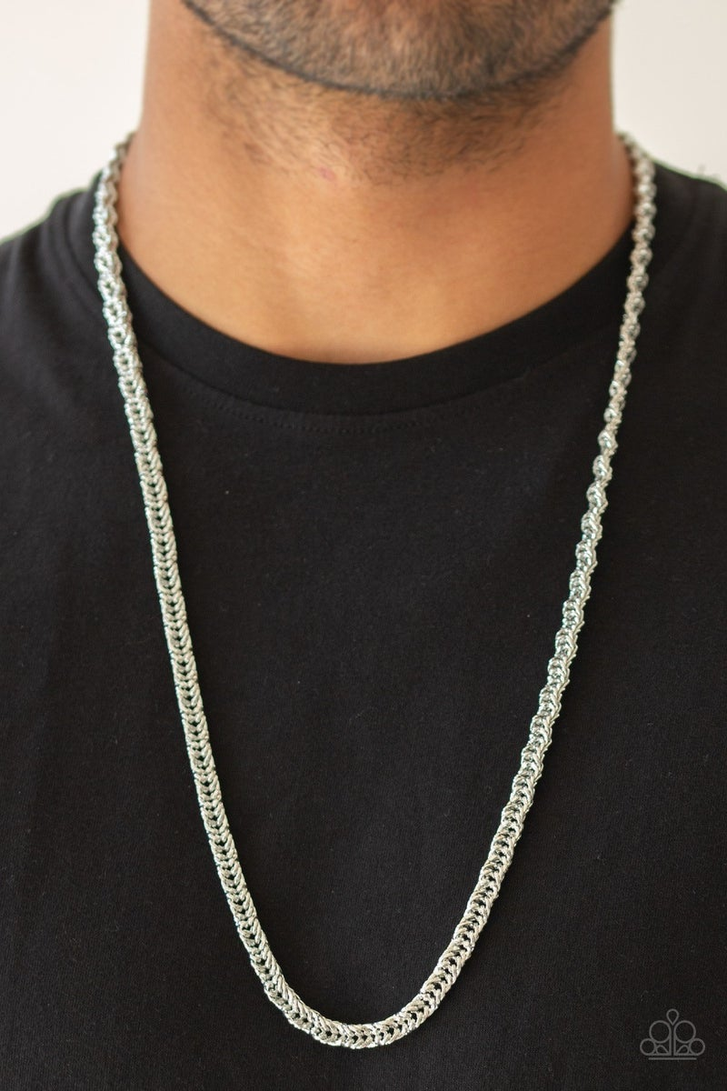 Go Down Fighting - Silver Men's Necklace