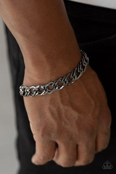 On The Ropes - Black Clasp Bracelet