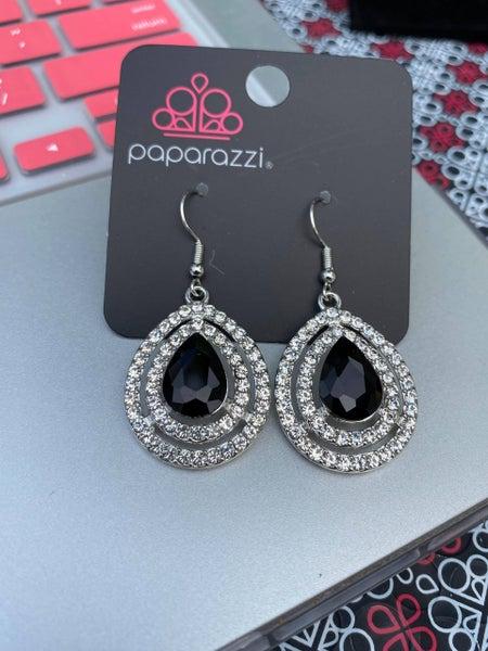 Millionaire Debonair - Black Earrings