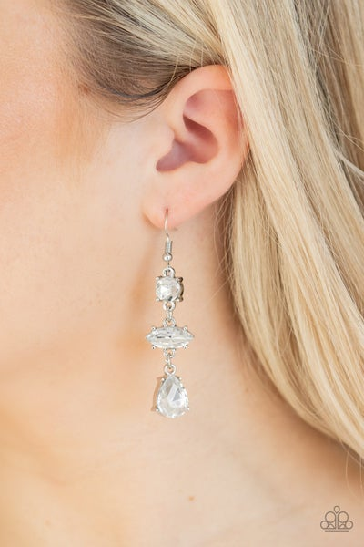 Starlet Twinkle - White Earrings
