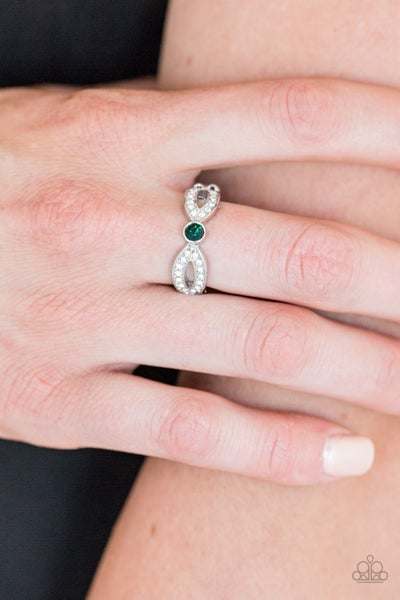 Extra Side Of Elegance - Green Ring