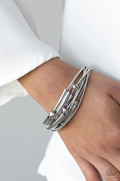Basic Magnetics - Silver Urban Bracelet