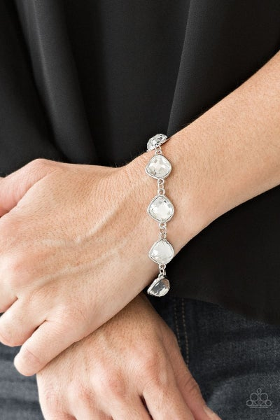 Perfect Imperfection - White Clasp Bracelet