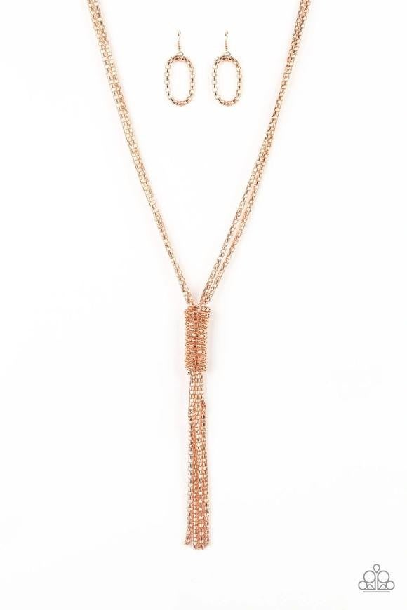 Boom Boom Knock You Out - Copper Necklace