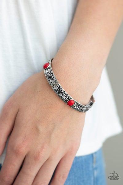 Wild West Story - Red Stretchy Bracelet