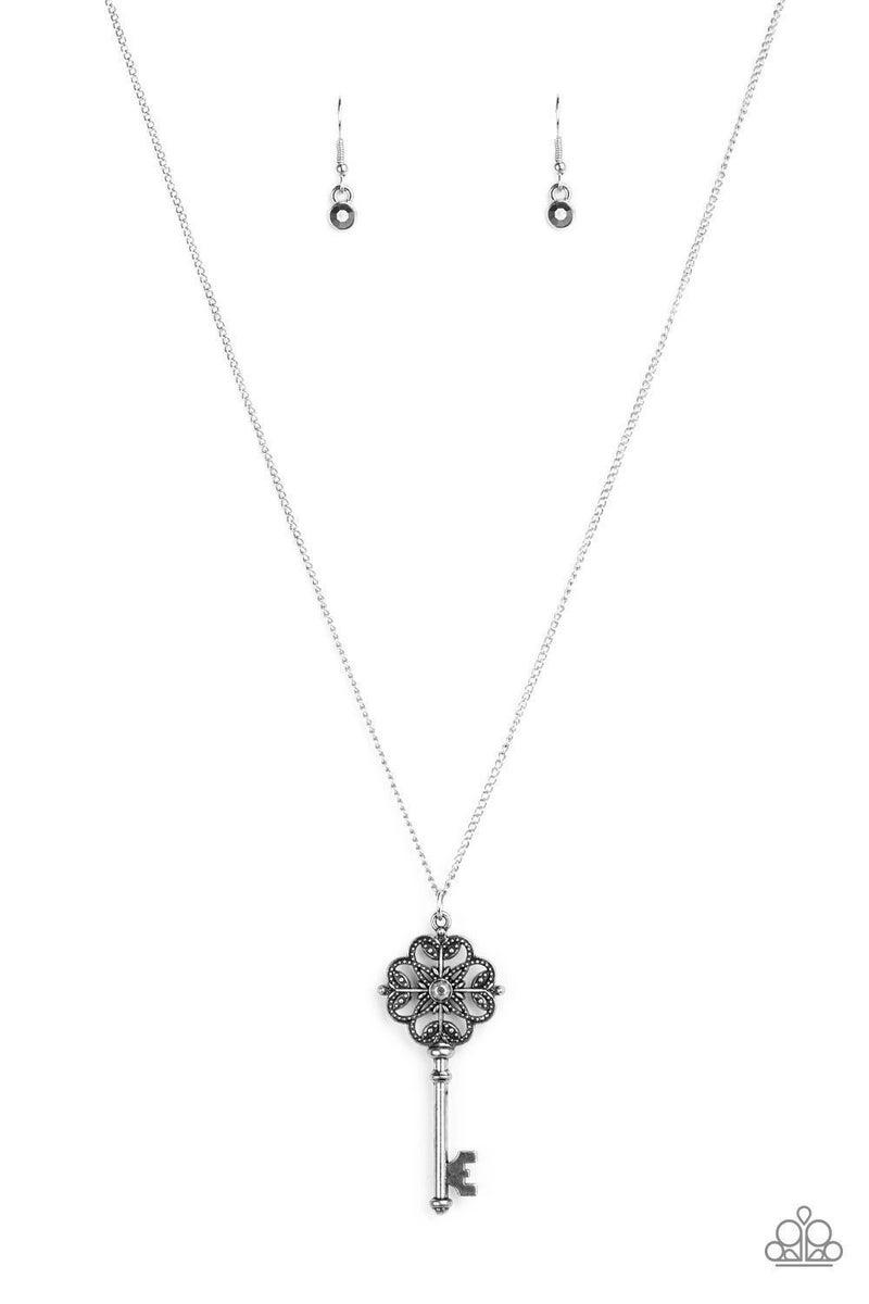 Got It On Lock - Silver Necklace
