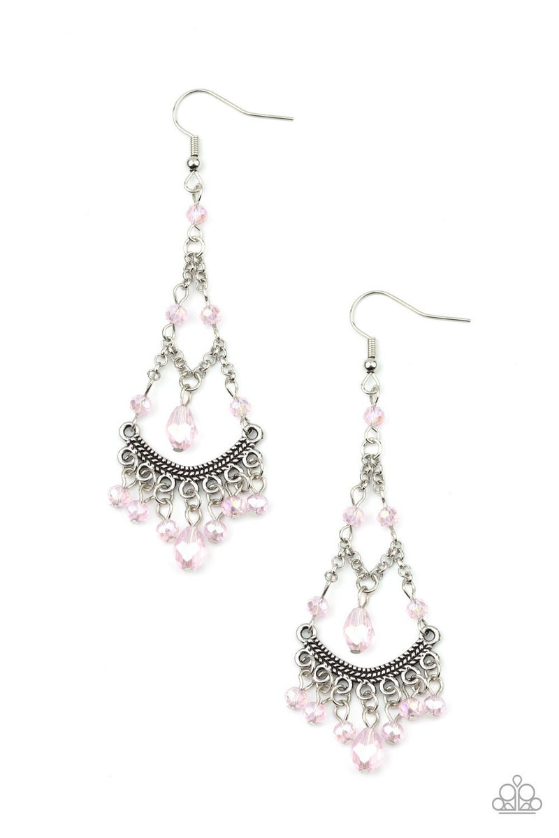 First In SHINE - Pink Earrings