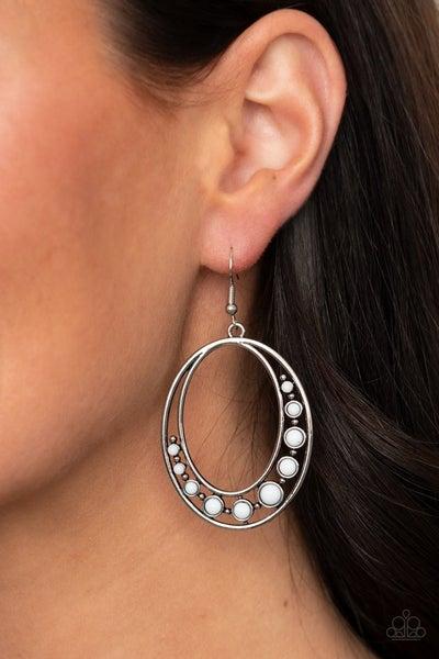 Crescent Cove - White Earrings