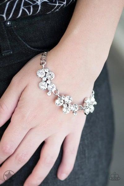Old Hollywood - White Clasp Bracelet