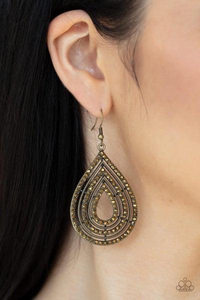 5th Avenue Attraction - Brass Earrings