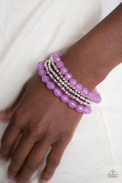 Sugary Sweet - Purple Stretchy Bracelet