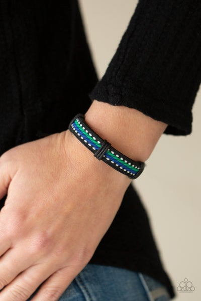 Forging a Trail - Blue Urban Bracelet