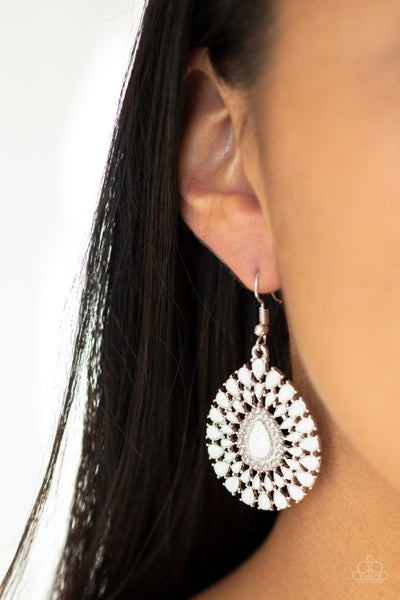 City Chateau - White Earrings