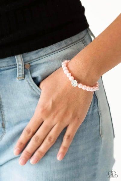 Follow My Lead - Pink Stretchy Bracelet