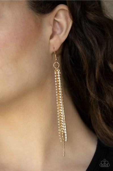 Center Stage Status - Gold Earrings
