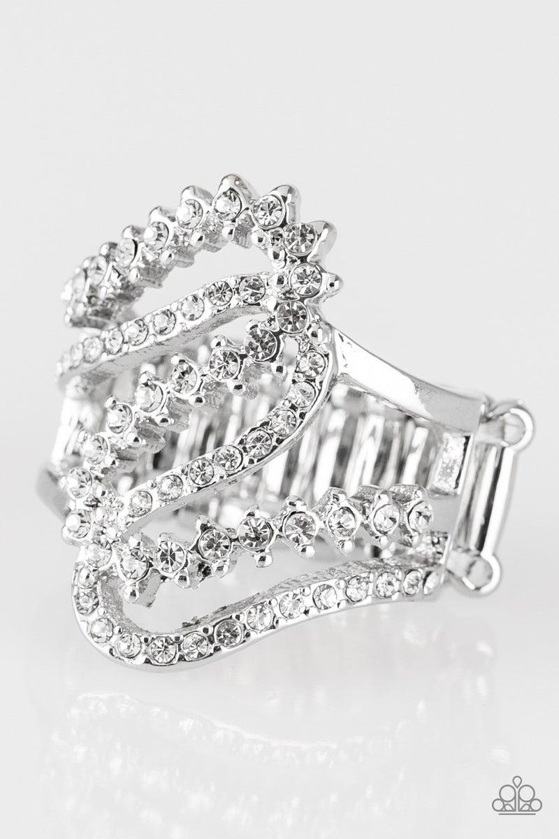 Make Waves - White Ring