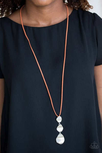 Embrace The Journey - Orange Necklace