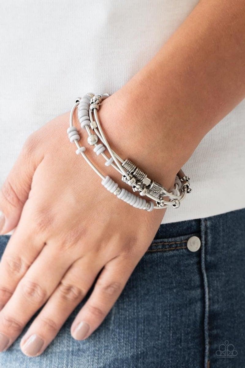Tribal Spunk – Silver Stretchy Bracelet