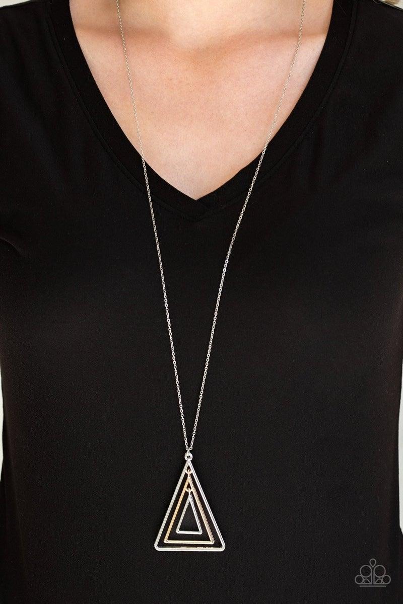 TRI Harder - Silver Necklace