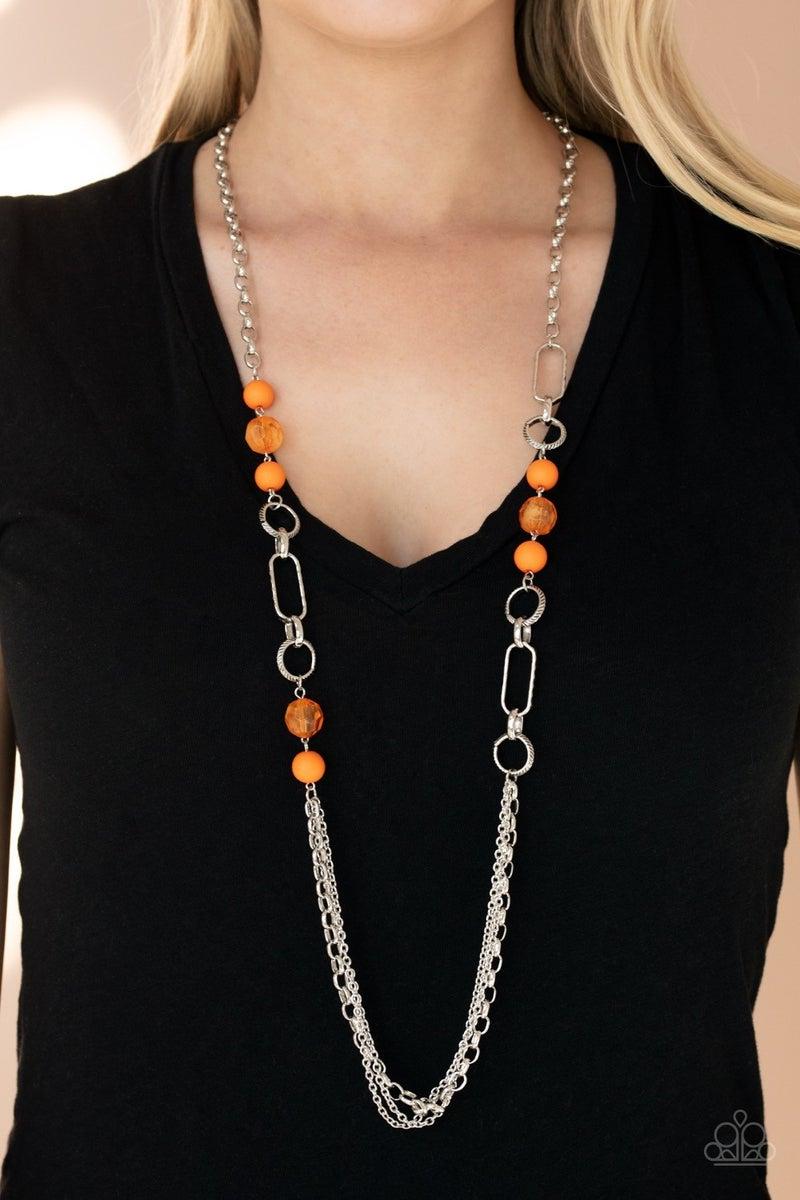 POP-ular Opinion - Orange Necklace