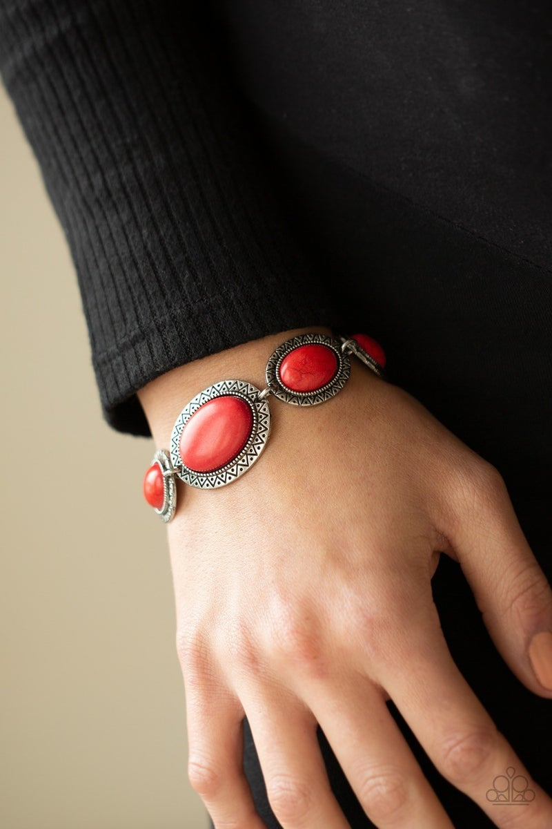 MESA Time Zone - Red Clasp Bracelet