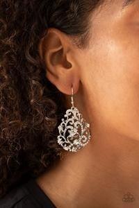 Winter Garden - White Earrings