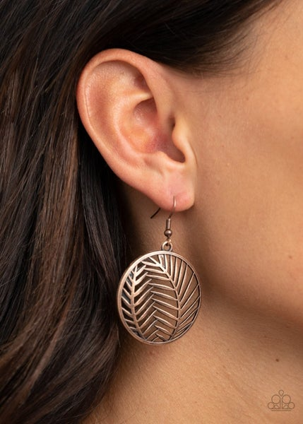 Palm Perfection - Copper Earrings