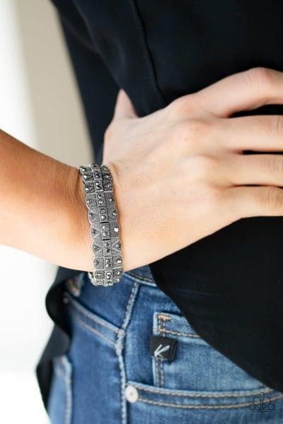 Modern Magnificence - Silver Stretchy Bracelet