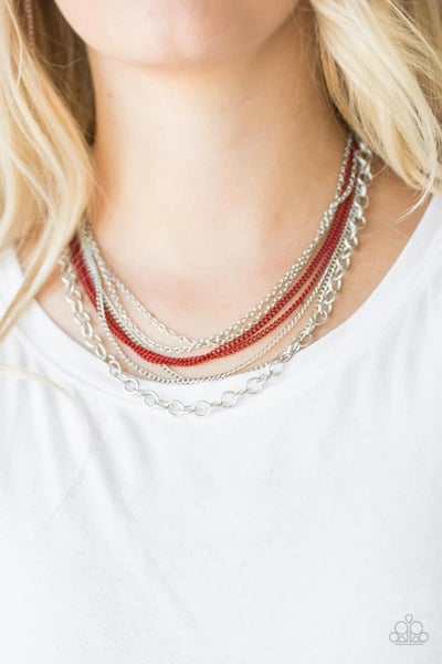 Intensely Industrial - Red Necklace