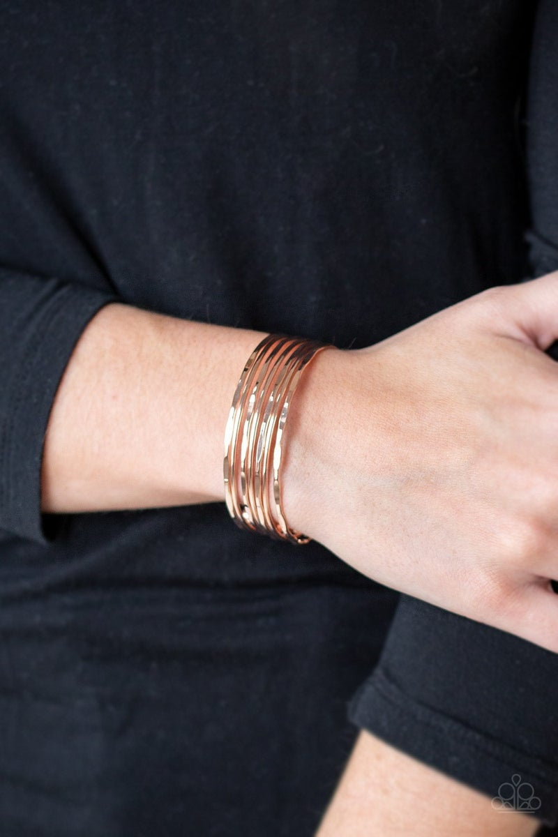 Timelessly Textured - Rose Gold Cuff