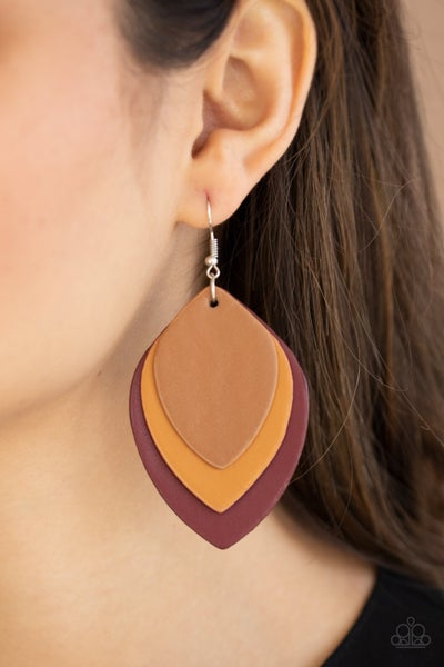 Light as a LEATHER - Multi/Red Earrings