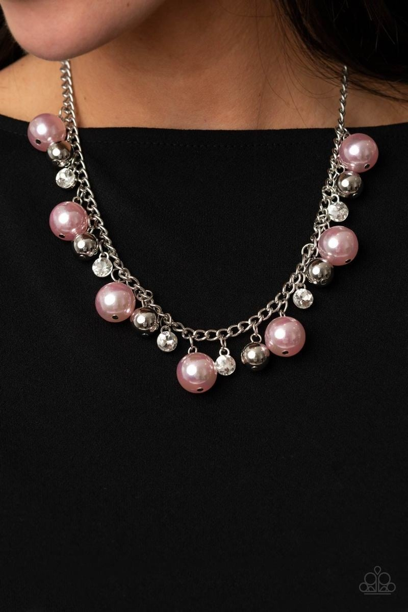 Galactic Gala - Pink Necklace