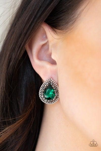 Debutante Debut - Green Earrings